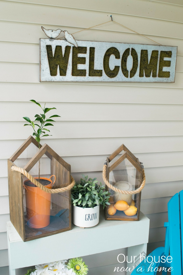 Front Porch Decorating Ideas With The Perfect Adirondack Chairs Our House Now A Home: Room By Room Series Week 1 • Our House Now A Home