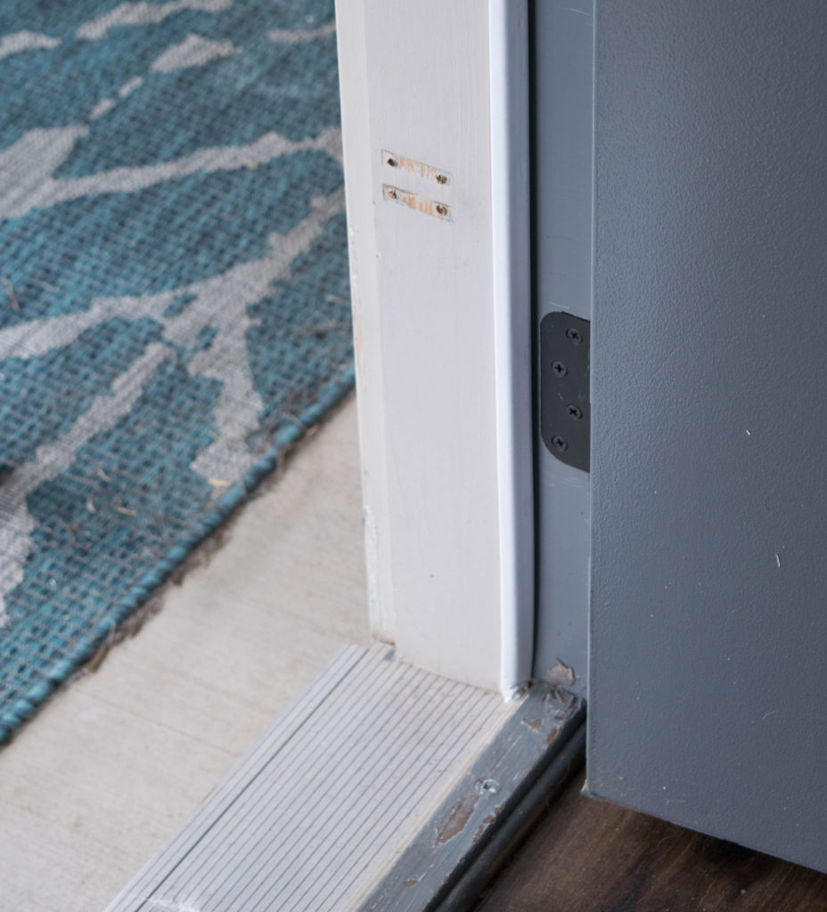 adding corner pad to door