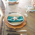 Simple coastal inspired tablescape
