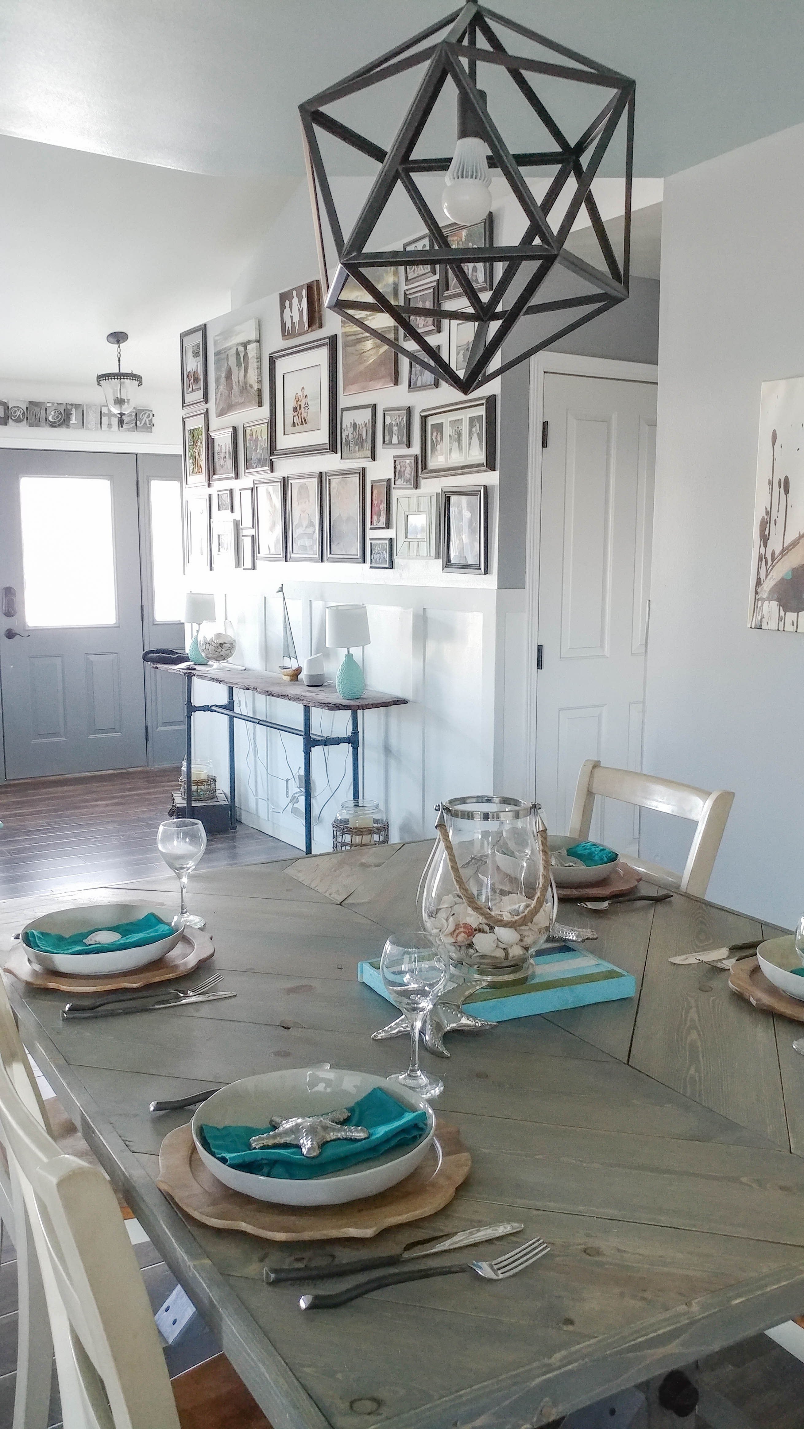 Simple coastal inspired tablescape • Our House Now a Home