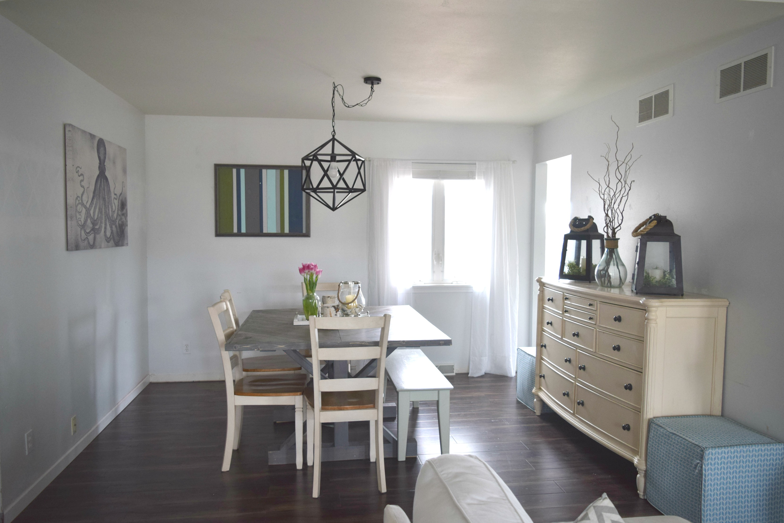 Simple dining room makeover low cost and easy updates • Our