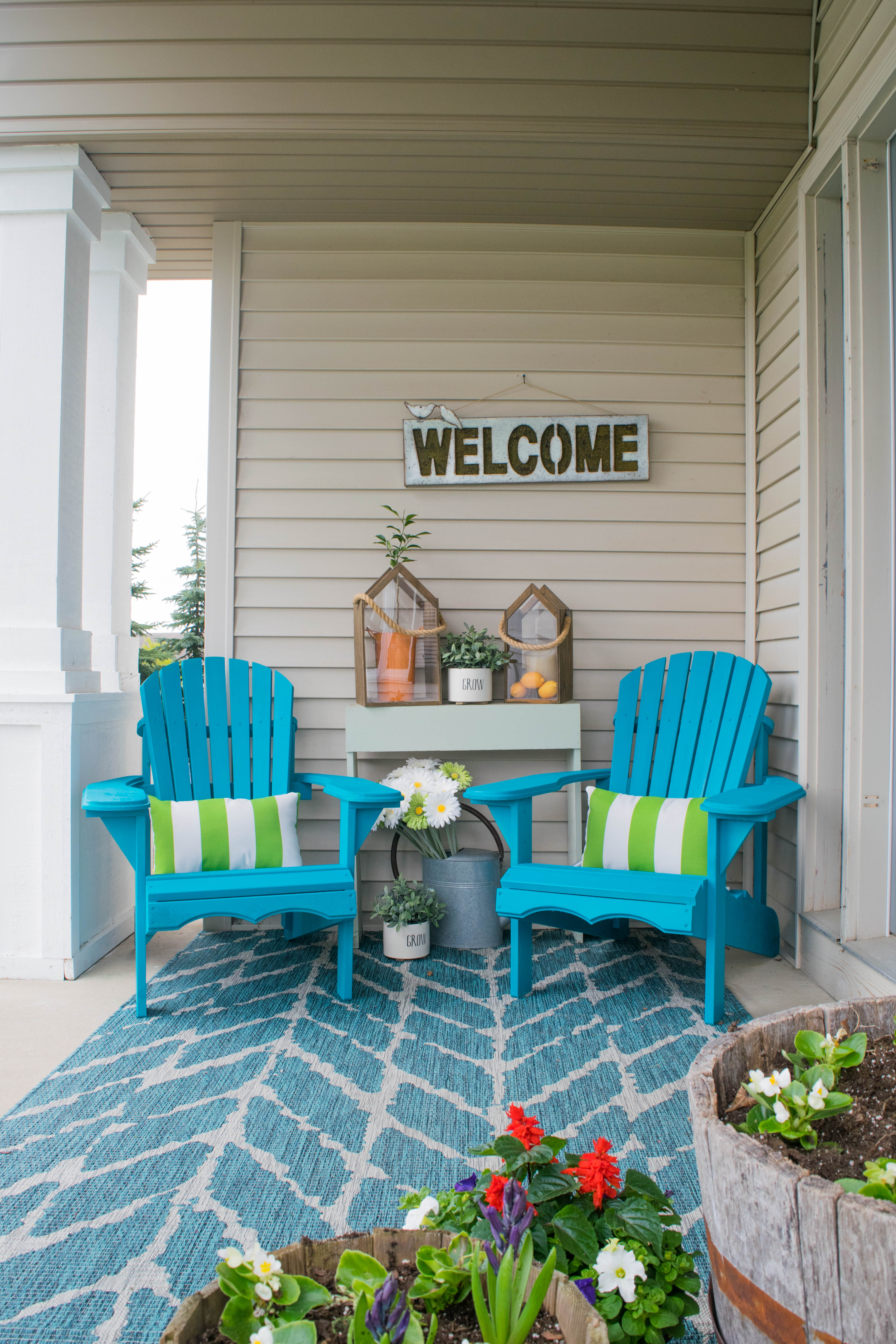 Front porch decorating ideas with the perfect Adirondack ... on Patio Decor Ideas id=36628