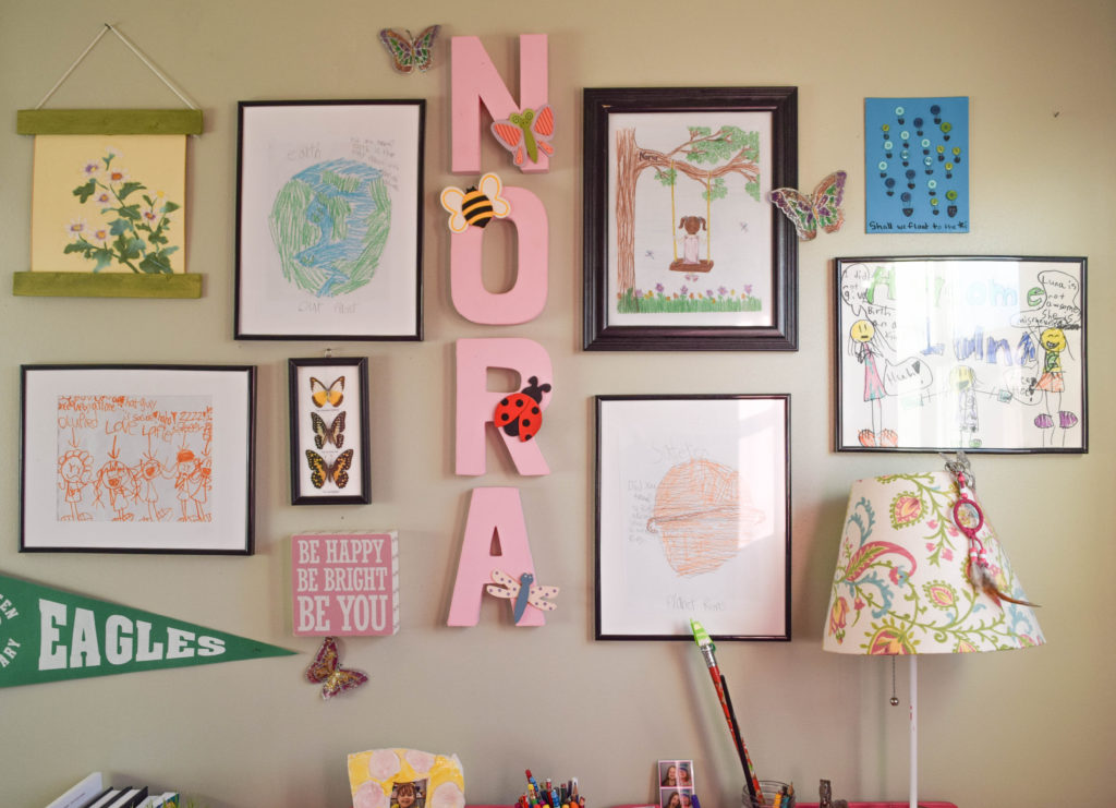 how to create a personal gallery wall in kids bedroom
