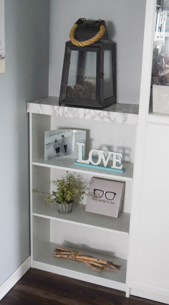 how to decorate open shelving