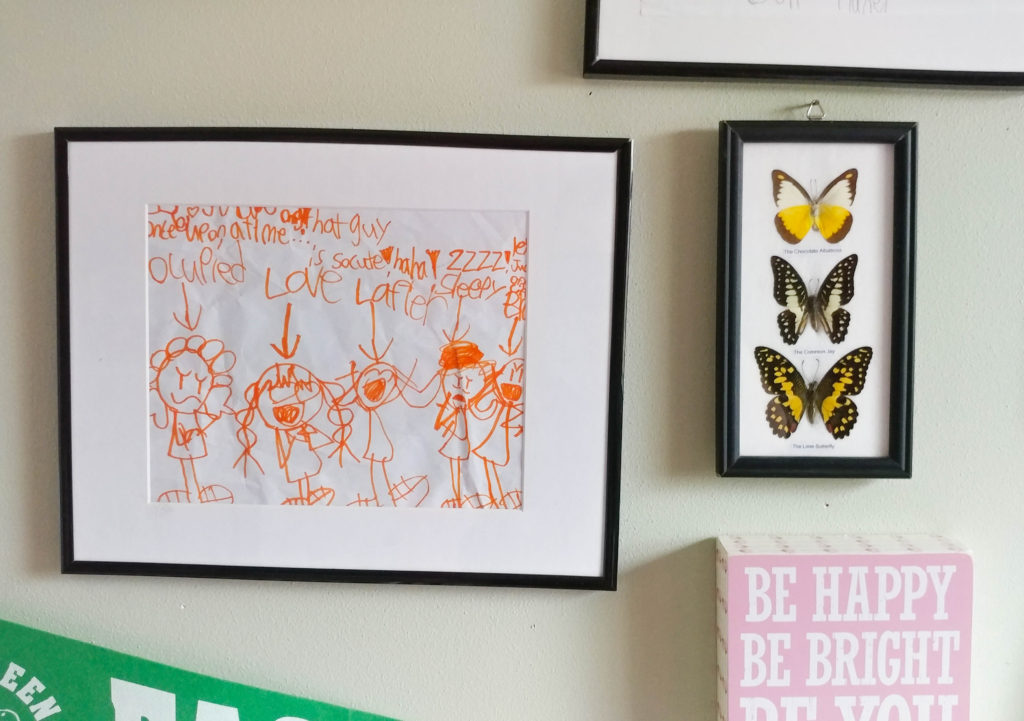how to display kids art on wall
