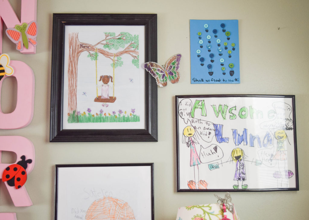 ideas to display kids art on wall, gallery wall ideas with a personal touch