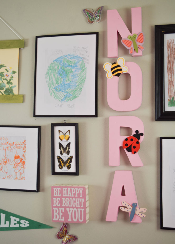 kids art with simple wall display options