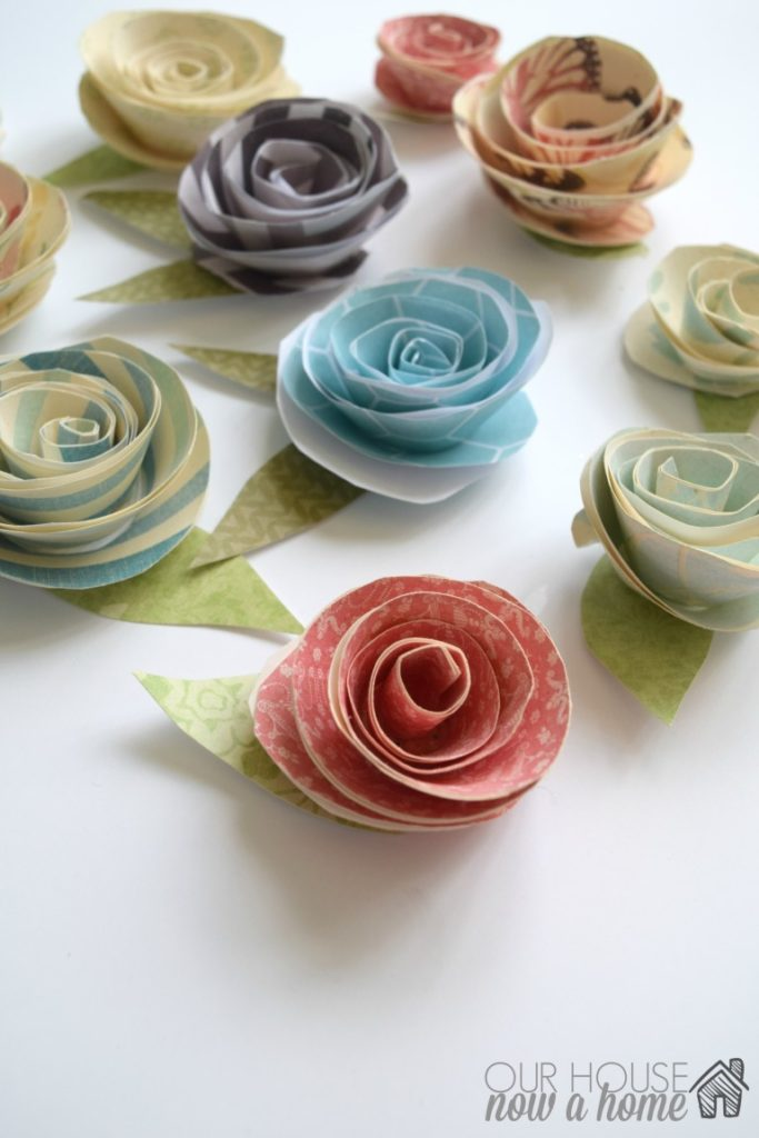 Paper flower video tutorial