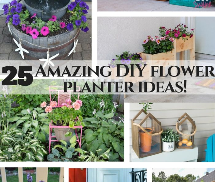 Flower planter planning – 25 amazing outdoor planter ideas!