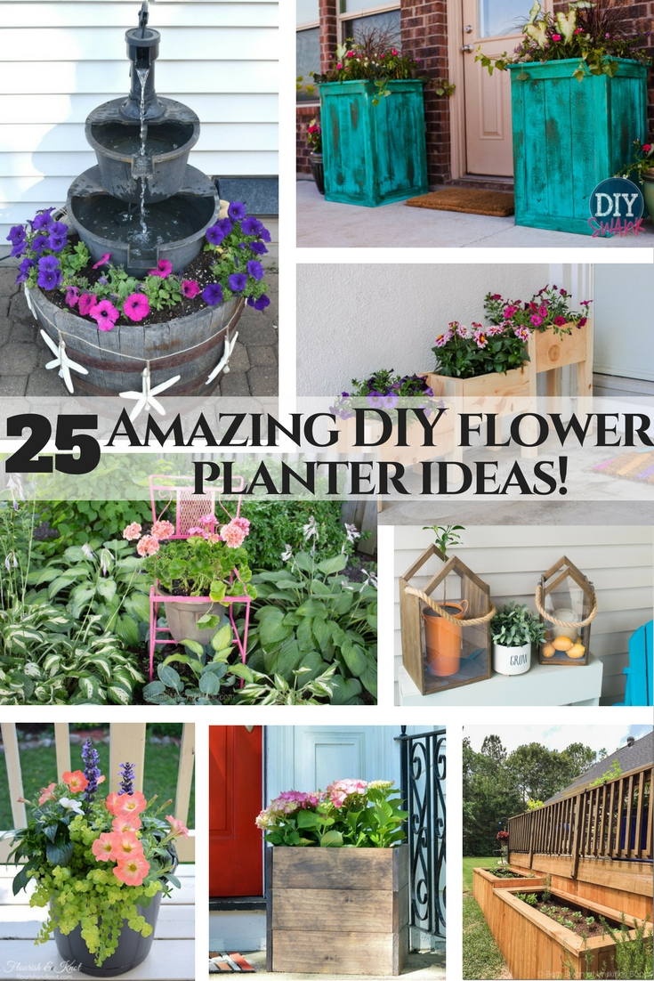 Amazing flower planter ideas! 25 DIY and upcycle flower ideas, perfect for any garden.