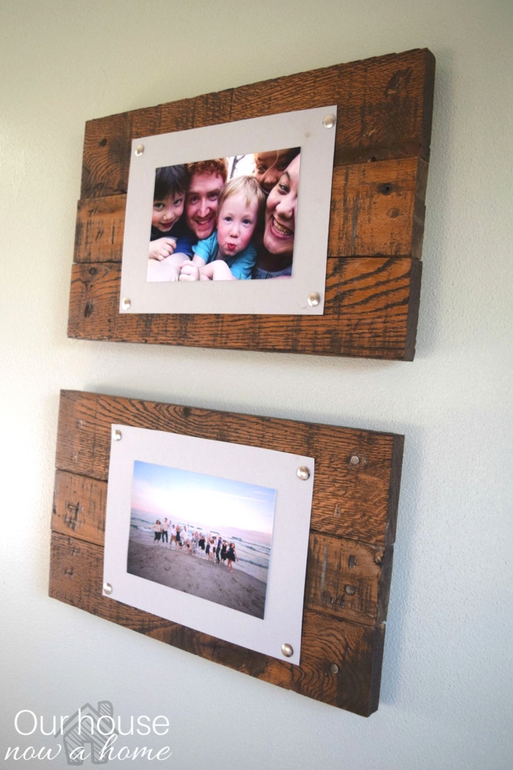 easy to make picture frame and wall display bringing