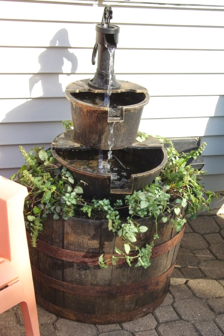 how to upgrade a store bought outdoor water fountain without spending a ton of money - Garden Water Fountains