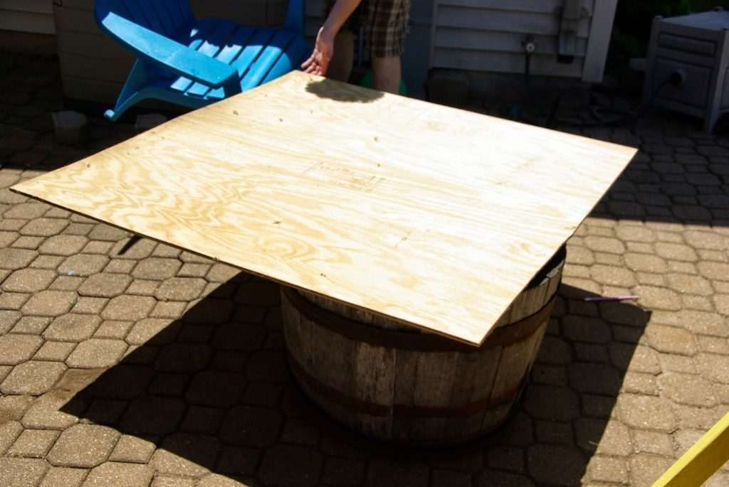 plywood for DIY water fountain