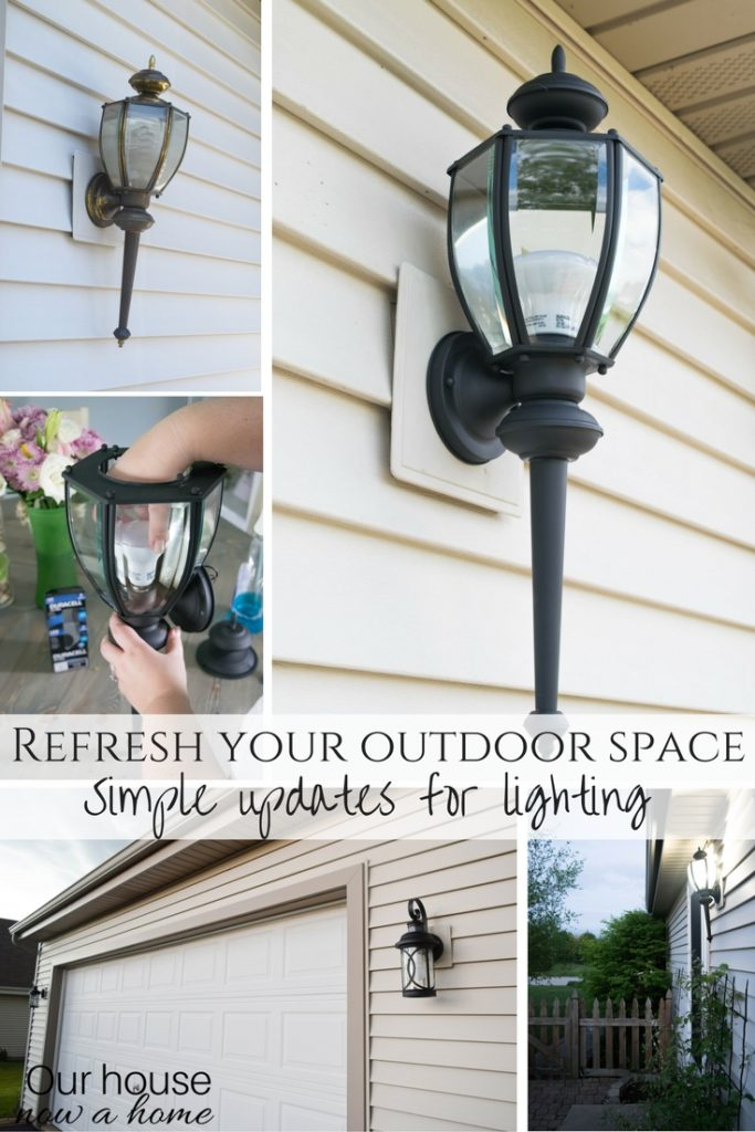 Refresh your outdoor space with these easy outdoor lighting ideas. Making all the difference without spending a lot of money.