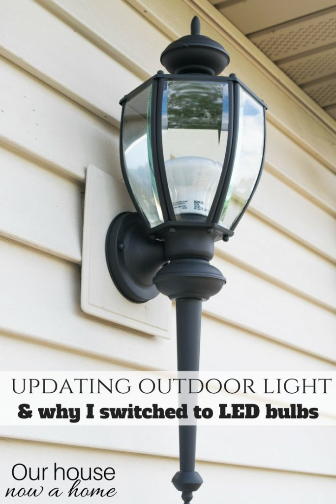 Simple ways to update outdoor light, easy upcycle to refresh an outdoor light. Simple upcycle with big results!