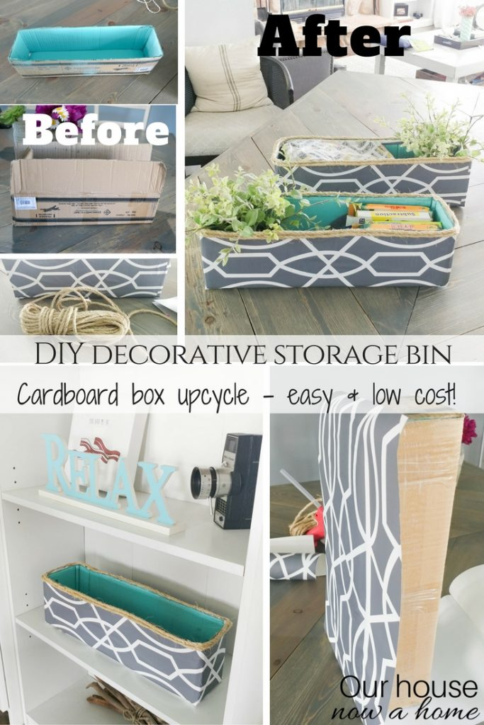 DIY decorative storage bin