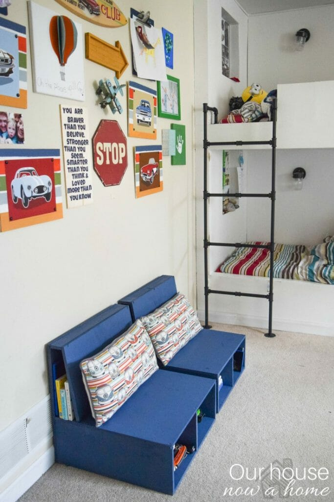 DIY plywood chairs with storage. Perfect for a child's bedroom or play room. Easy to make with full tutorial.