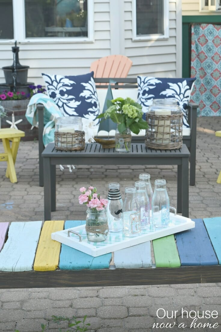 DIY wood pallet bench, low cost and easy to make! • Our ...
