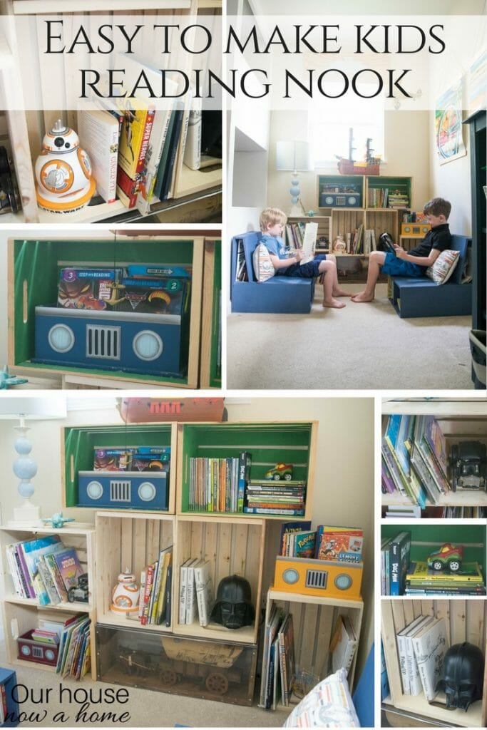 Easy to make kids reading nook
