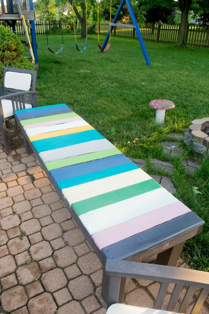 colorful-wood-pallet-bench-1-of-1