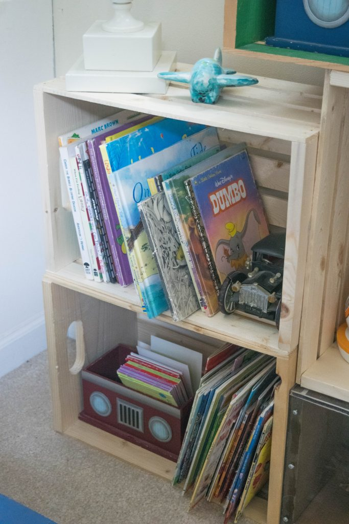 crate bookshelves