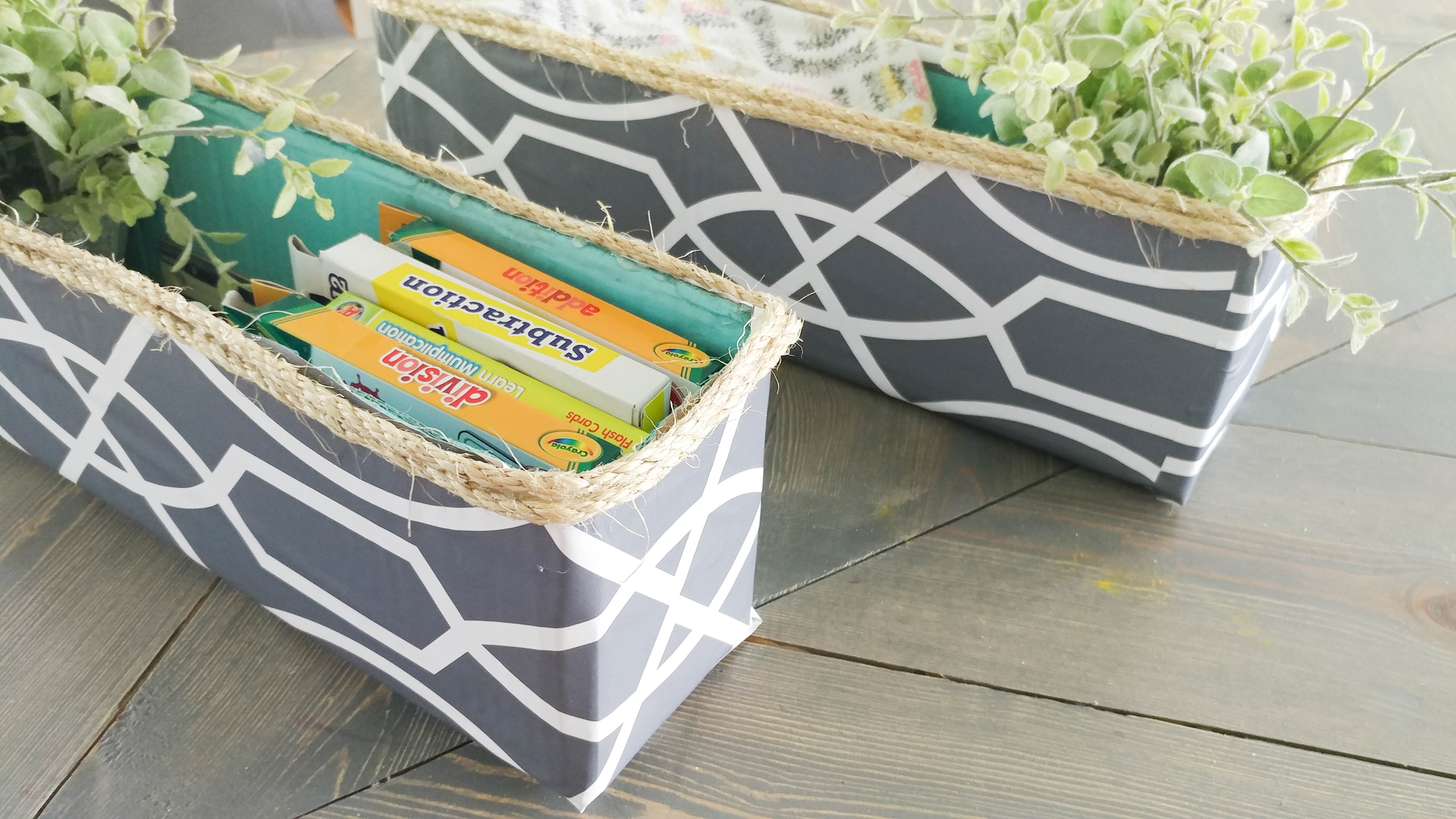 Decorative Boxes How To Make : Diy decorative storage bin cardboard box upcycle our