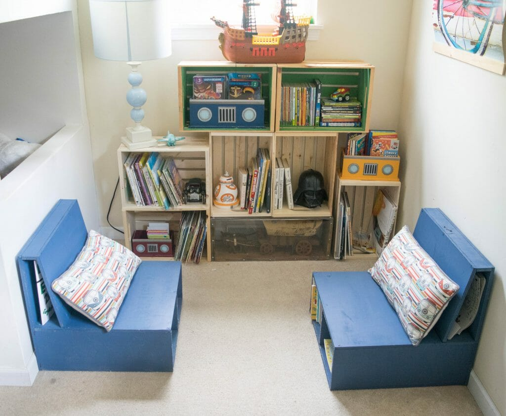 Diy Wooden Crate Bookshelf Making The Perfect Kids