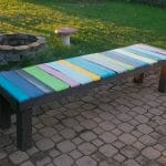 DIY wood pallet bench, low cost and easy to make!
