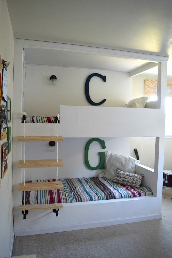 DIY built in bunk bed good quality image