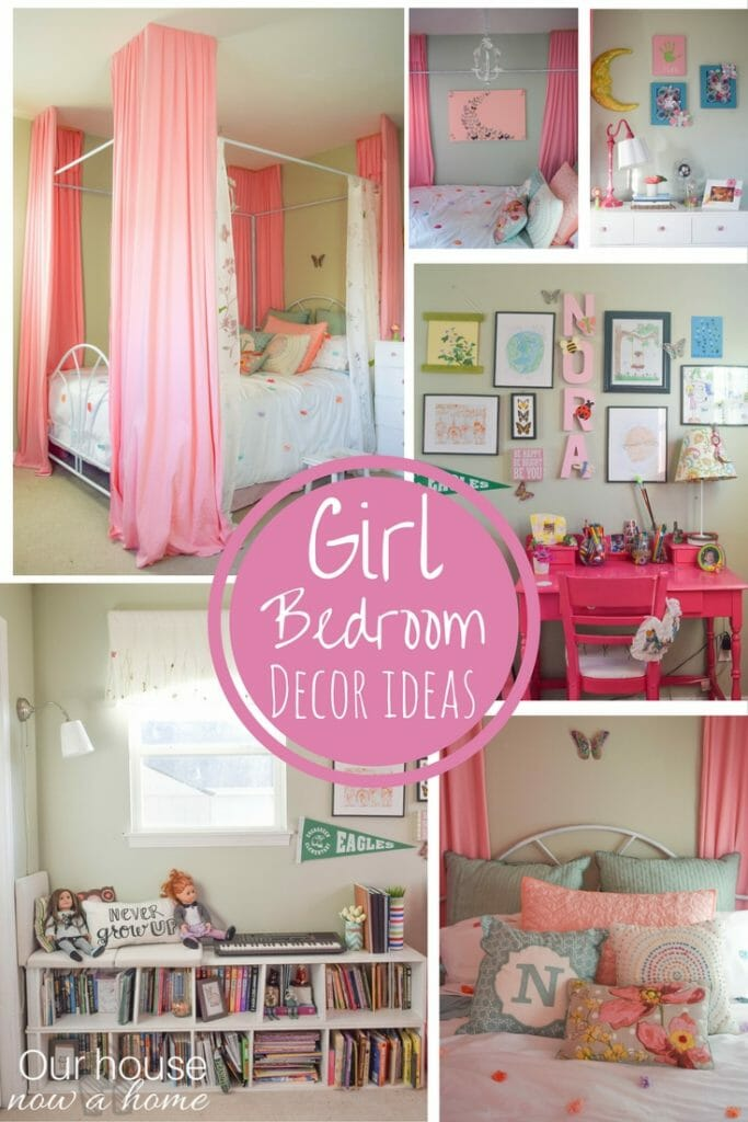 Real life decorating ideas for a girl bedroom. Adding personal touches, fun, whimsical decor, comfort and creativity. Simple ideas to create a dream girl bedroom!