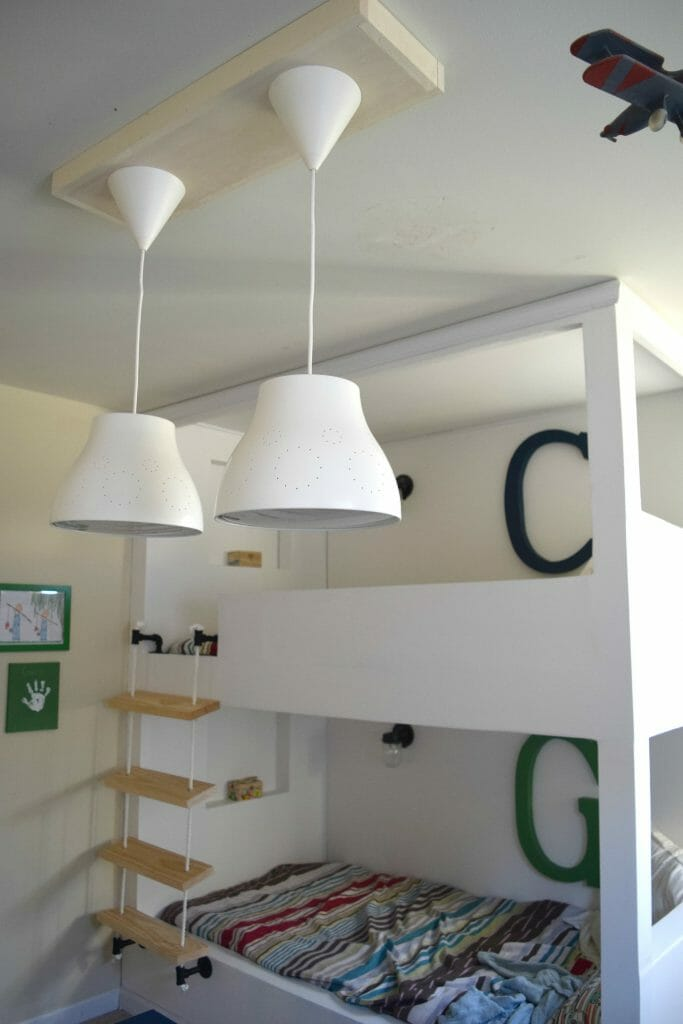 bunk bed and lighting