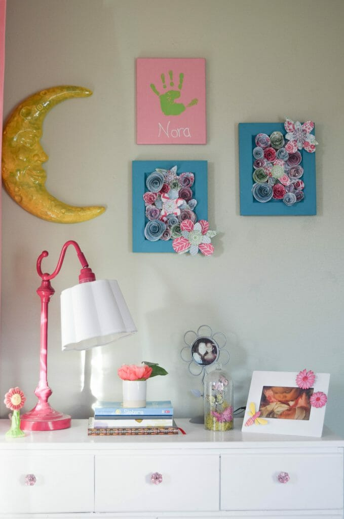 girl bedroom wall decor and DIY ideas