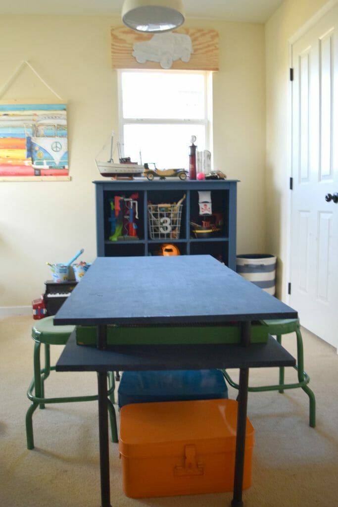 lego table and toy storage