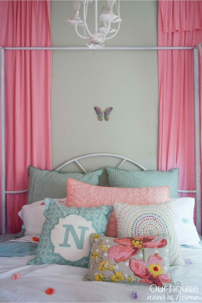 sweet and soft girl bedroom ideas - adding color and whimsical touches