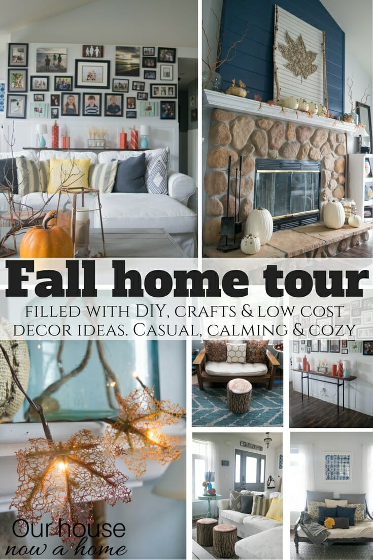 Fall Front Porch, A Mix Of DIY And Rustic Decor • Our House Now A Home