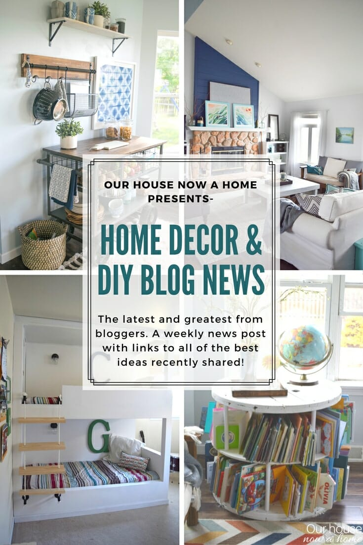 Home decor & DIY blog news, inspiring projects from this week