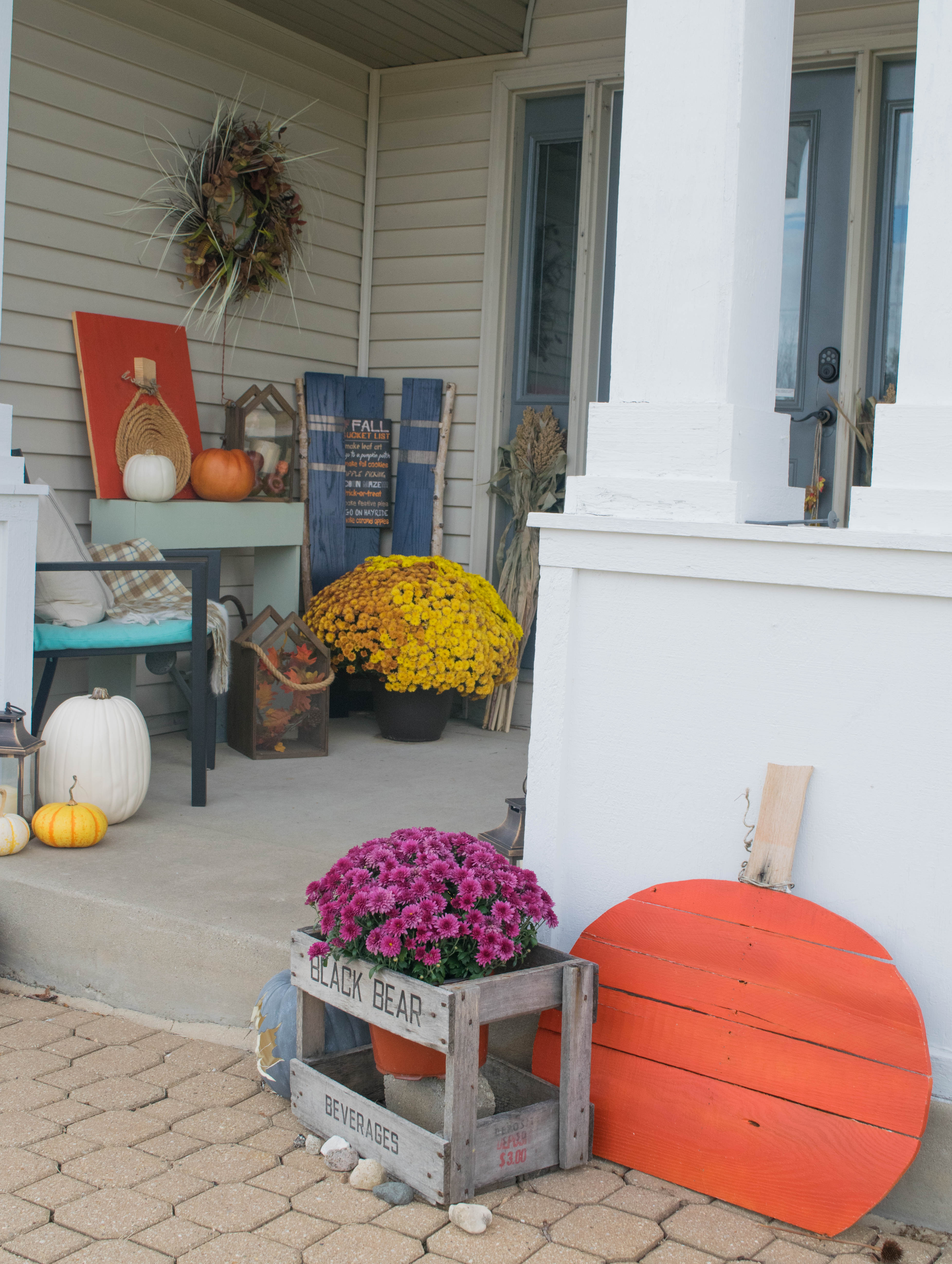 Emily Fields Bedroom Blue And Orange Fall Decor 1 Of 1 Our House Now A Home