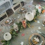 Nature and rustic inspired fall tablescape