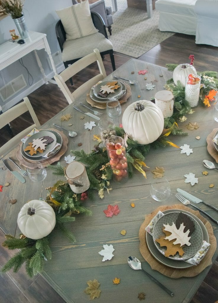 Fall themed tablescape, simple ideas with stunning results!