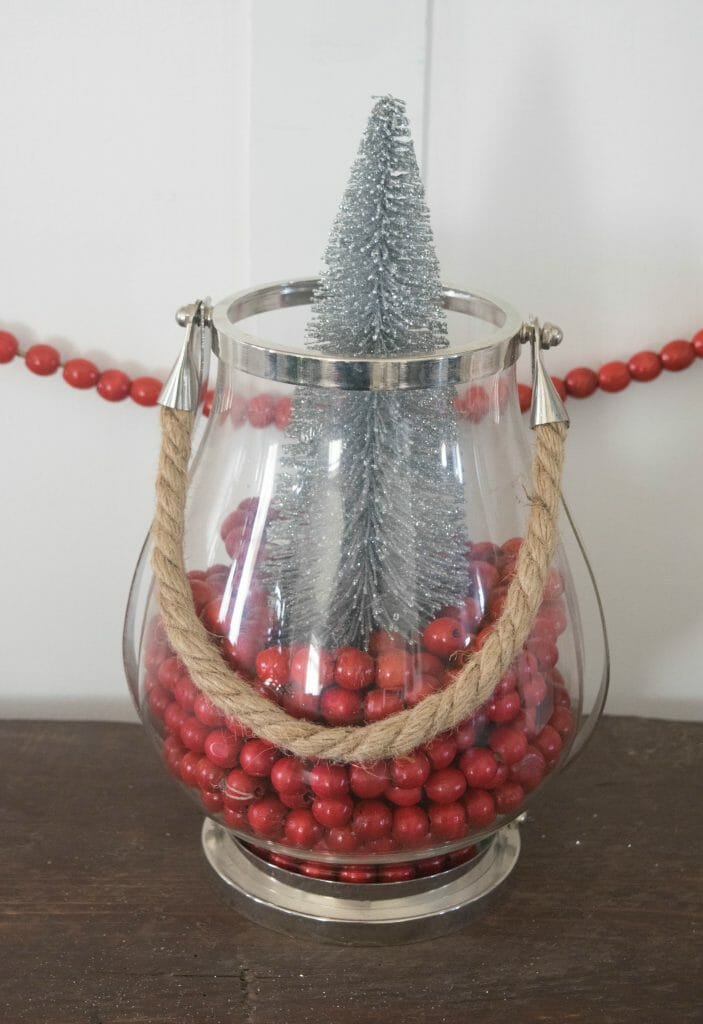 Christmas glass vase ideas, what to fill them with