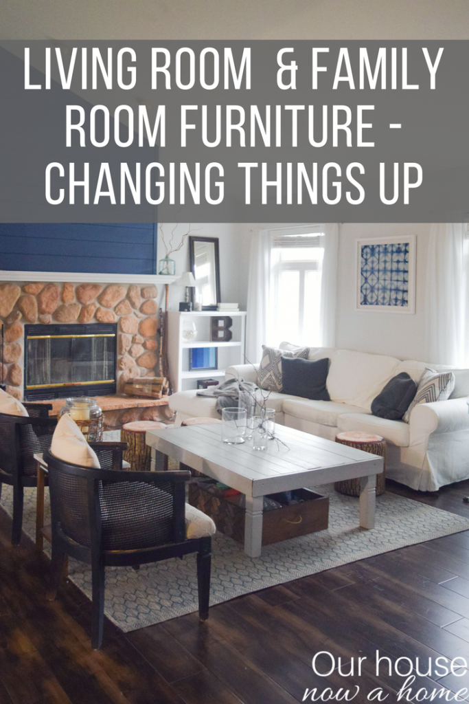 Come see my new home! Living room and family room furniture arrangement. Changing things up with a whole new feel!
