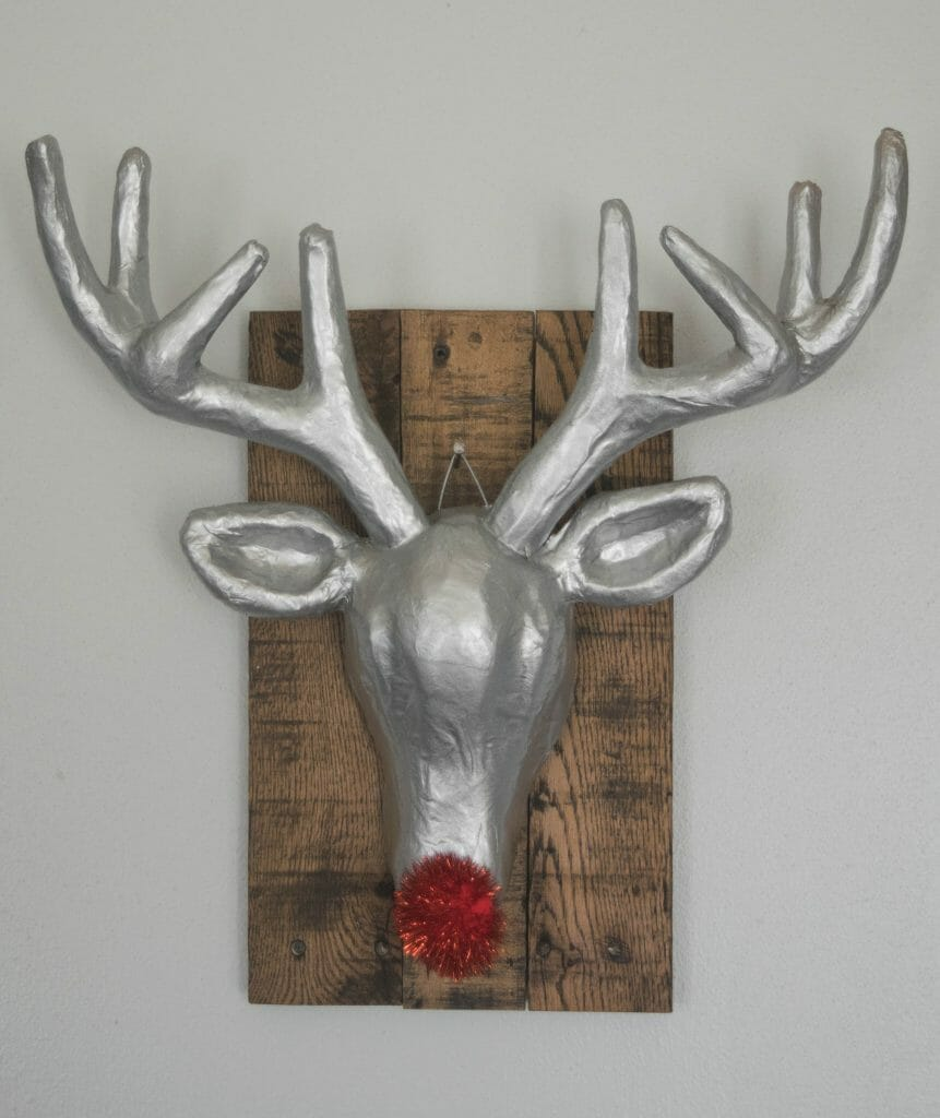 DIY rudoplh reindeer wall art