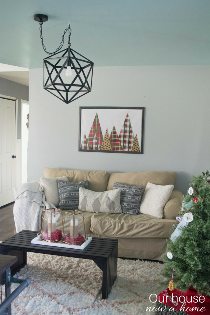 Holiday home tour filled with diy simple low cost Low cost wall decor
