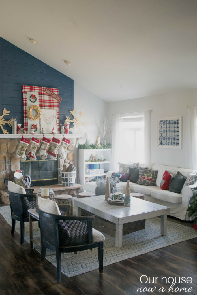 Home decor blogger Christmas home tour. DIY, rustic, low cost, whimsical and simple ways to decorate for the holidays.