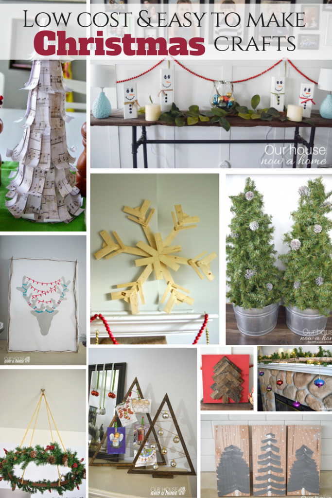 How to decorate for Christmas with low cost ideas. 16 easy to make crafts to decorate for the holiday season!
