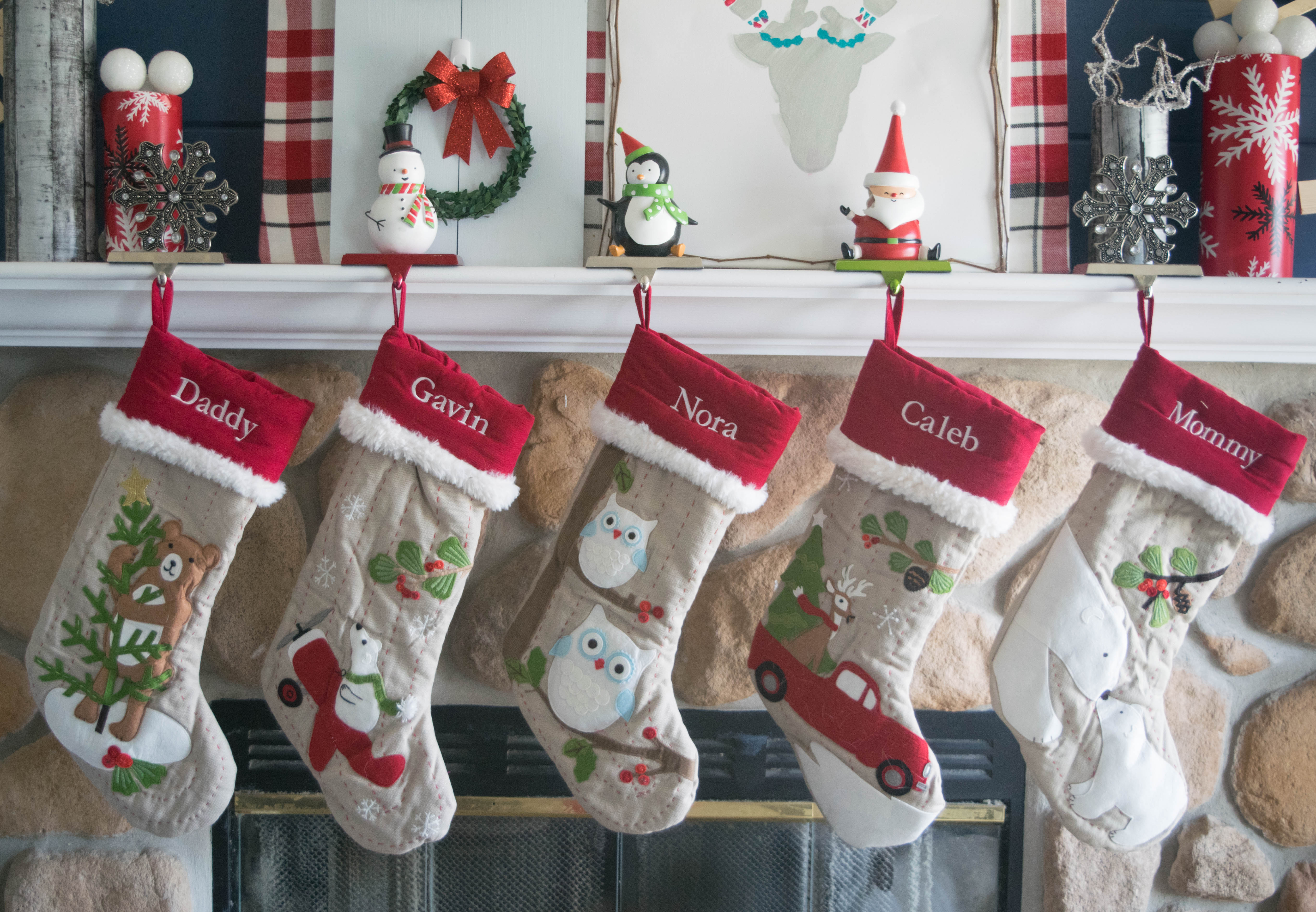barns christmas starfish styles different stockings barn decorating stocking applique holiday z coastal pottery