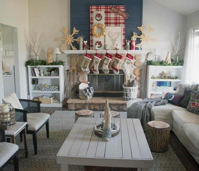 Holiday home tour, filled with DIY, simple & low cost ideas