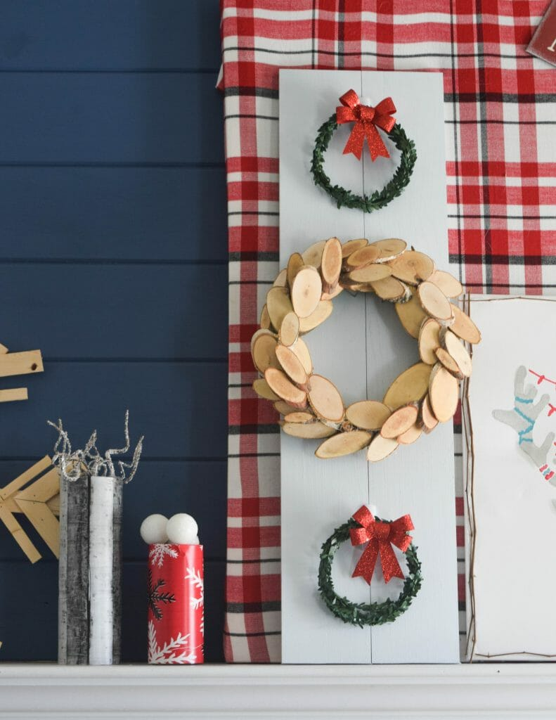 Holiday Handmade Decorating A Fireplace Mantel With Christmas Diy
