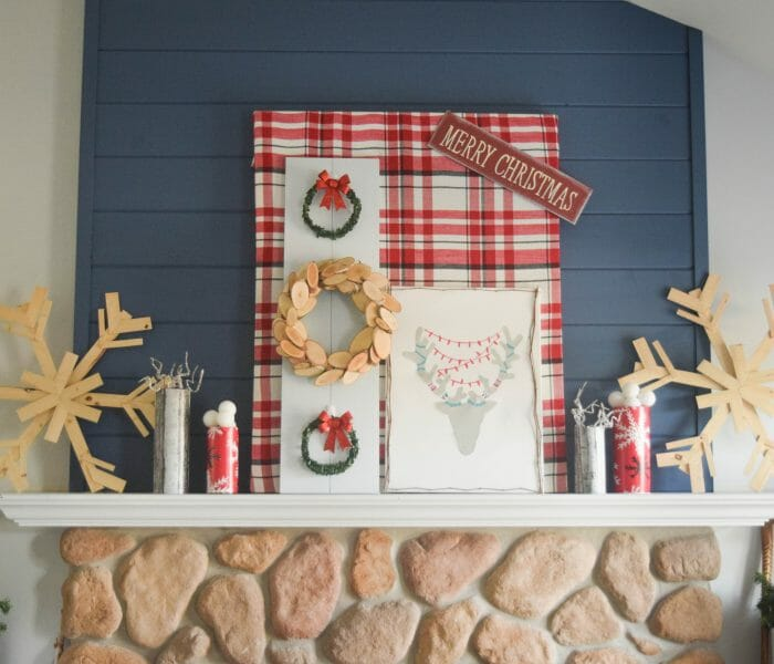 Holiday handmade – decorating a fireplace mantel with Christmas DIY ideas