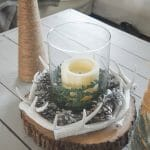DIY rustic holiday table decor, simple Christmas tree crafts